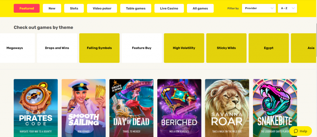 Game Library at Just Spin Casino