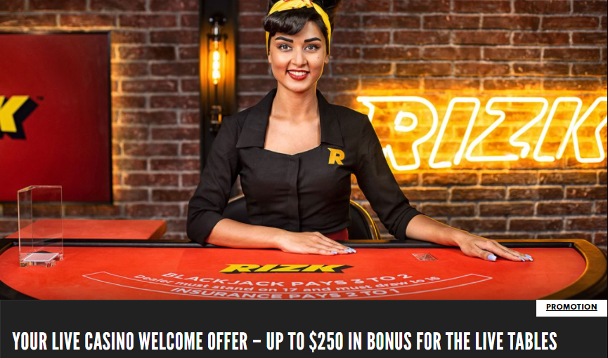 Rizk Bonus for Live Dealer Games