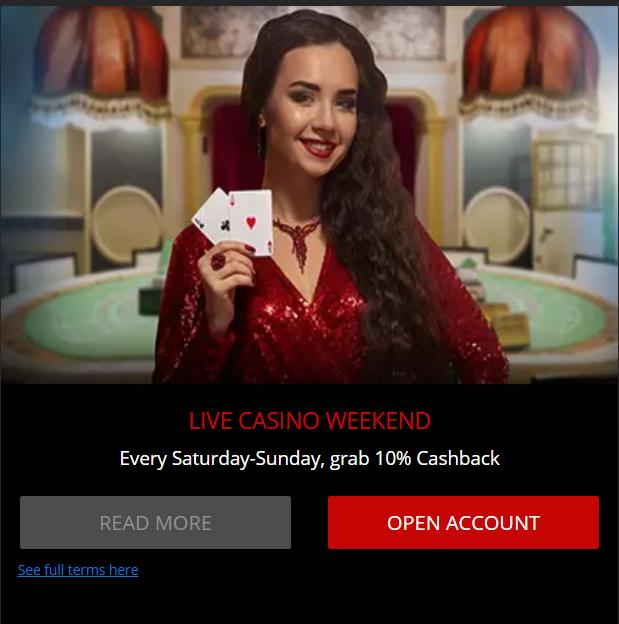 Magic Red Live Casino Promo