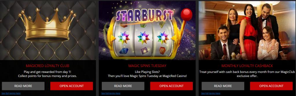 Magic Red Casino Promotions