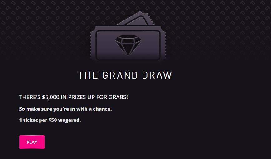 Play Grand Casino Prize Draws