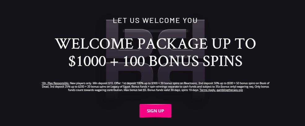 PlayGrand Casino Welcome Bonus