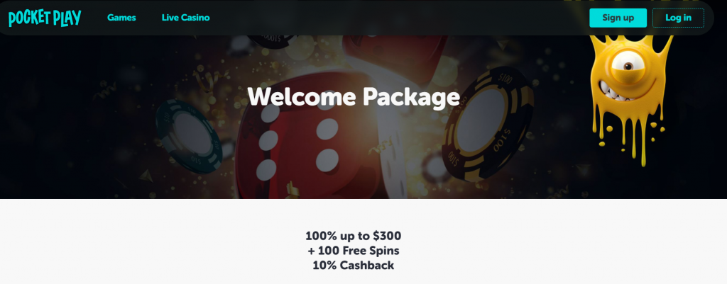 Pocket Play Casino Welcome Package