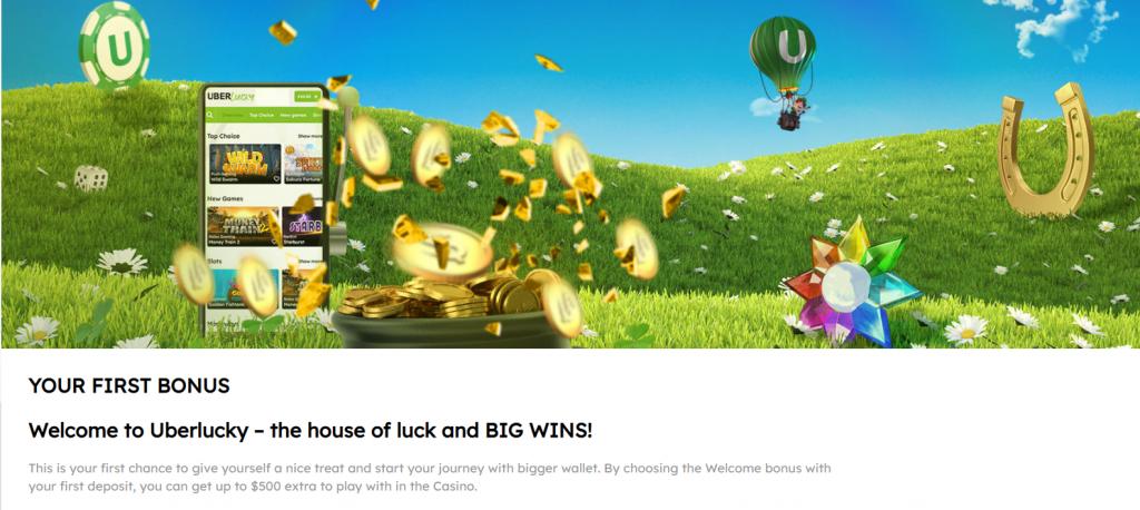 Uberlucky Welcome Bonus