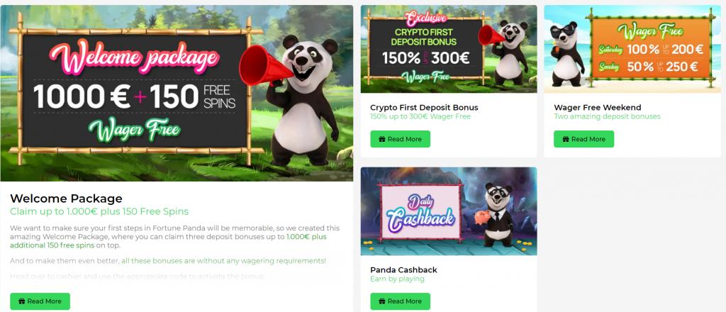 Fortune Panda Casino Promotions