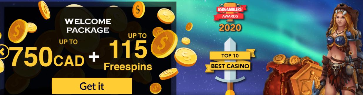 Konung Casino Welcome Bonus