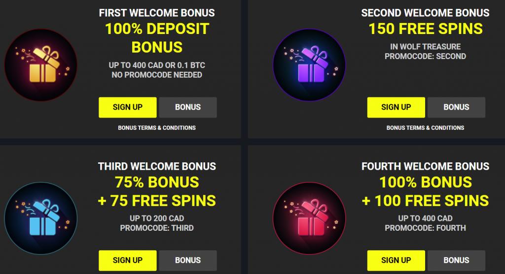Parimatchwin Casino Welcome Bonuses