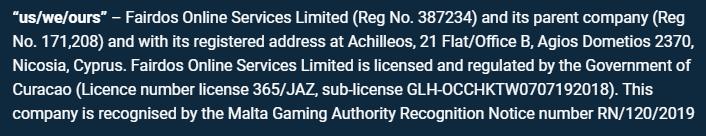 Spin247 Online Casino License