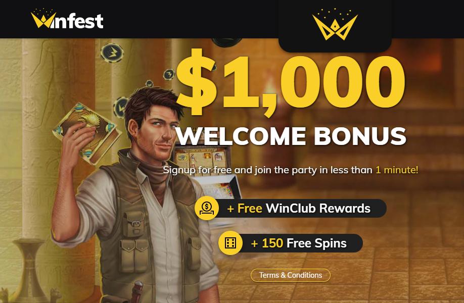 Winfest Casino Welcome Bonus