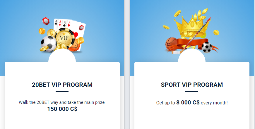 20Bet VIP Promotions