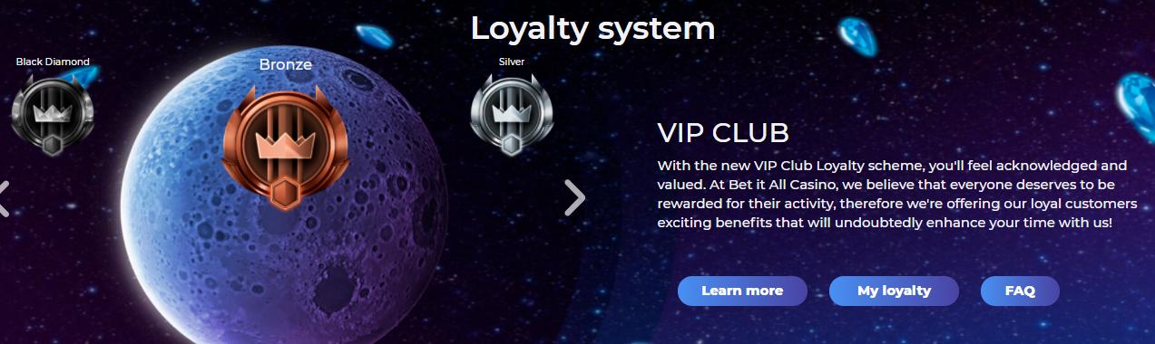 Bet It All Casino VIP Club