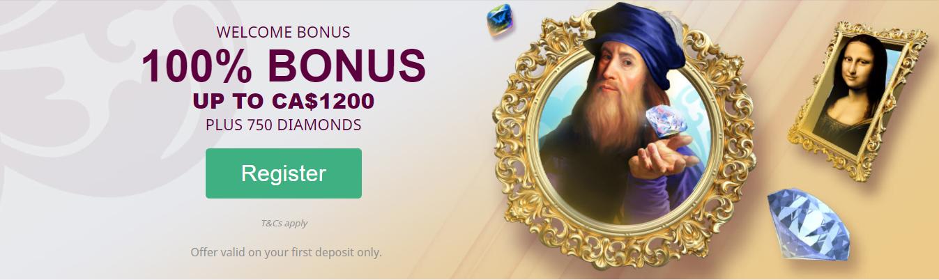 Da Vincis Casino First Deposit Bonus