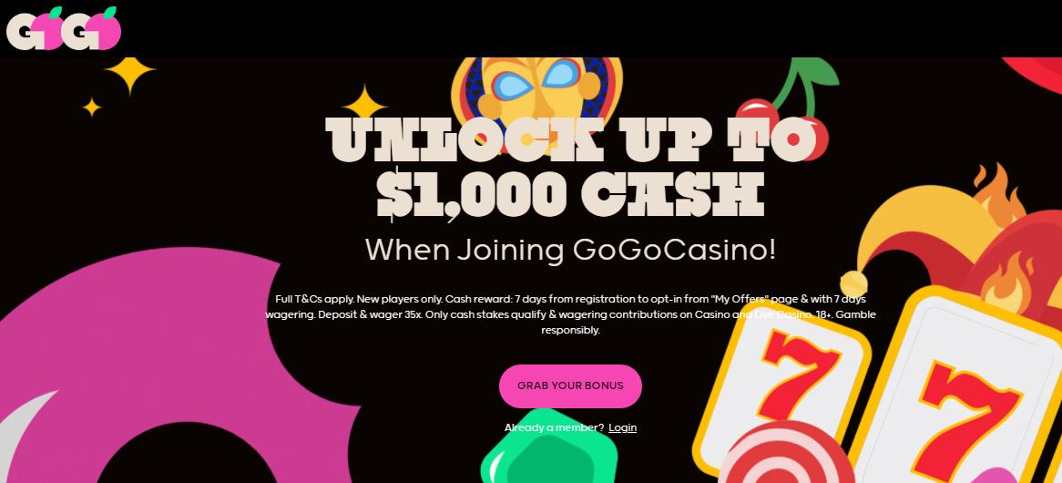 Gogo Casino Deposit Bonus